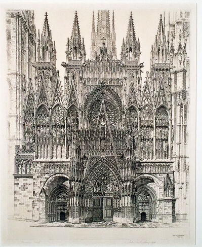 John Taylor Arms, 'LACE IN STONE - ROUEN CATHEDRAL', 1927