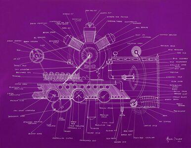 Agnes Denes, 'The Liberated Sex Machine (Violet)', 2013