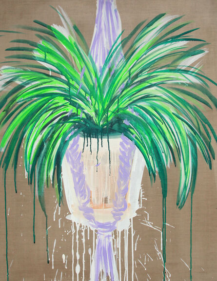 Erin Rachel Hudak, 'Spider plant (from childhood)', 2019
