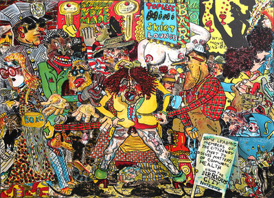 Red Grooms, 'Nervous City', 1971
