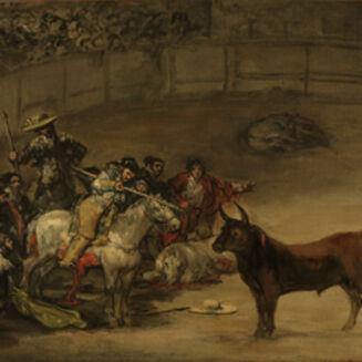 Francisco de Goya, 'Bullfight, Suerte de Varas', 1824