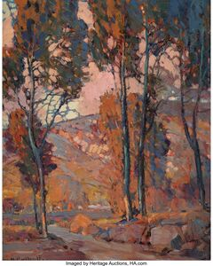 Hanson Puthuff, 'Foothills at Sunset'