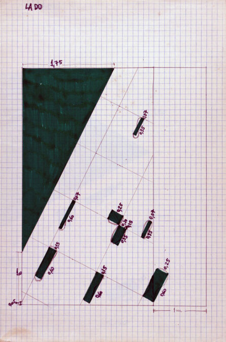 Analivia Cordeiro, 'Scene drawing from front point of view, Cambiantes', 1976