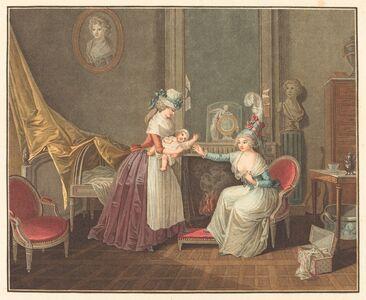 Jean-Baptiste Mallet after Henri Nicolas van Gorp, 'Le dejeuner de Fanfan'