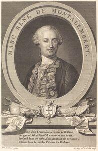 Augustin de Saint-Aubin after Maurice-Quentin de La Tour, 'Marc Rene de Montalembert', 1793