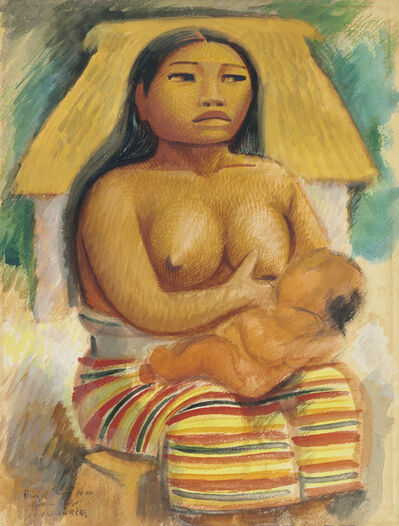 Miguel Covarrubias, 'Mayan Woman / Portrait of a Thai Dancer (double-sided work)'