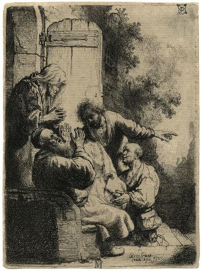 Rembrandt van Rijn, 'Joseph's Coat Brought to Jacob ', ca. 1633