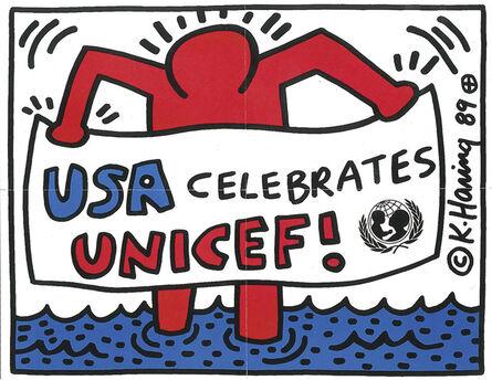 Keith Haring, 'USA Celebrates UNICEF', 1989