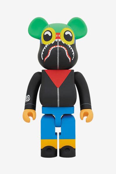 Hebru Brantley, 'Bearbrick x Hebru Brantley Flyboy Shark 400% Bearbrick Black', 2018