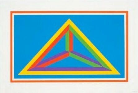 Sol LeWitt, 'Isometric Figures in Five and Six Colors Series (orange border)', 2002