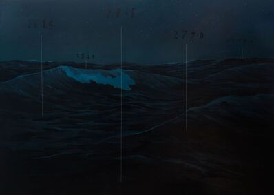 Oliver Jeffers, 'Nighttime Seascape', 2016