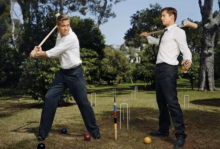 Martin Schoeller, 'George Clooney and Brad Pitt', 2007