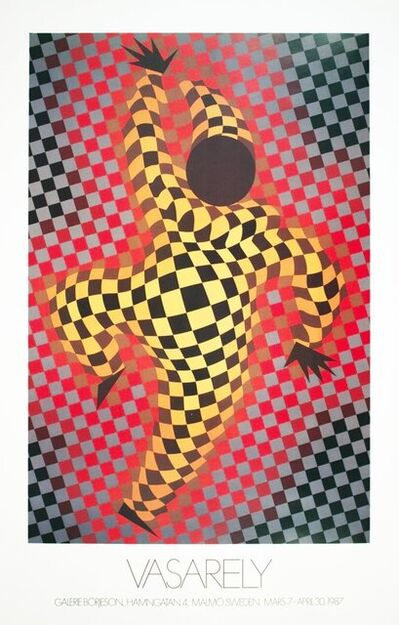 Victor Vasarely, 'Clown (Red)', 1987