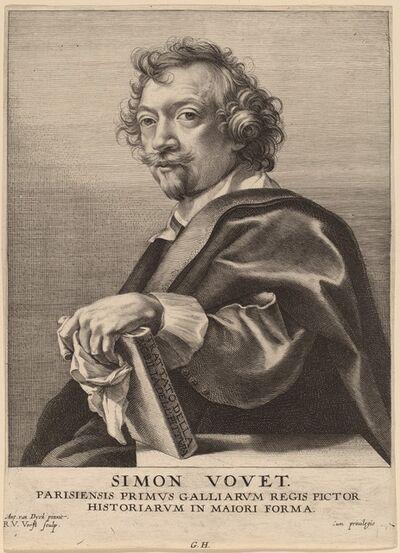 Robert van Voerst after Sir Anthony van Dyck, 'Simon Vouet', probably 1626/1641