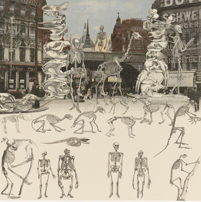 Peter Blake, 'Ludgate Circus - Day of the Skeletons', 2012
