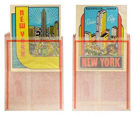 Joe Tilson, 'Joe Tilson, New York Decals 3 and 4, two screenprints in colours, 1967', 1967