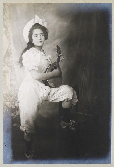 CHARLES BETTS WAITE, 'Colomba Quitana avec sa mandoline', 1905