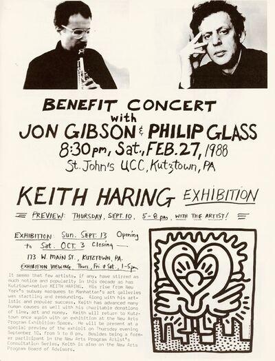 Keith Haring, 'Keith Haring & Philip Glass: Kutztown Fall Newsletter 1987 ', 1987