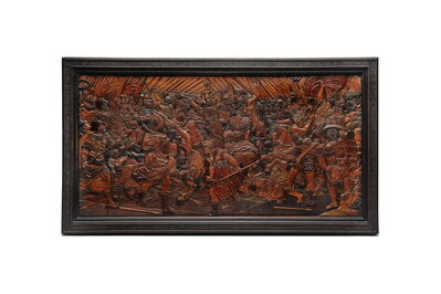 Johann Georg Fischer, 'The Battle of the Amazons in Relief Intarsia', Eger or Dresden-ca 1650