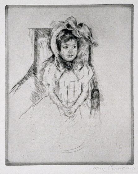 Mary Cassatt, 'Margot Wearing a Large Bonnet, Seated in an Armchair.', ca. 1904