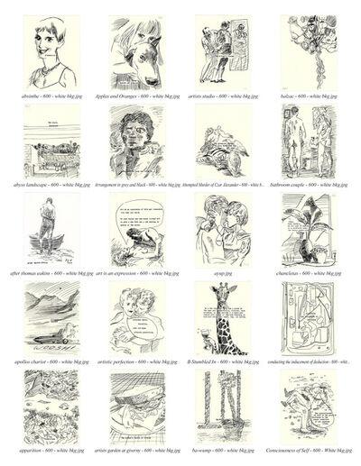Frank J. Stockton, 'Typewriter Drawings', 2020-2021