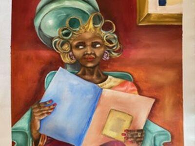 Mookho Ntho, 'Under The dryer I', 2021