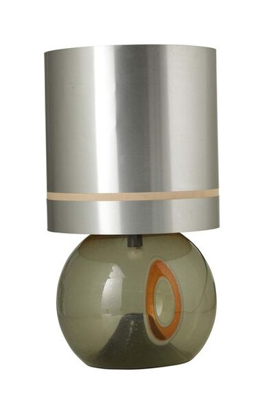 Lino Tagliapietra, 'A table lamp with a Murano glass and metal structure', 1970 ca.