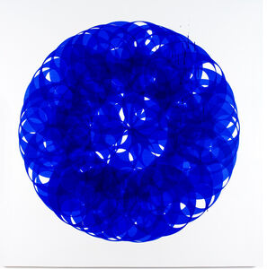 Soonja Han, 'Indigo blue universe', 2017