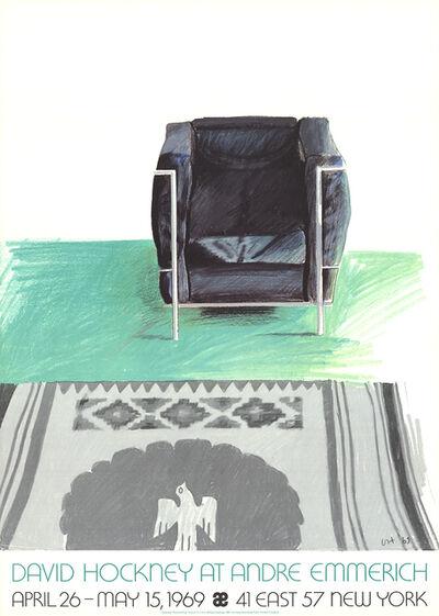 David Hockney, 'Corbusier Chair and Rug (lg)', 1969