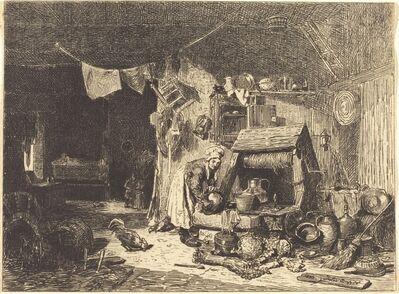 Jules Dupré, 'Interior of a Farmhouse', 1833
