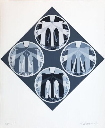 Robert Indiana, ' Decade (The Brooklyn Bridge)', 1971
