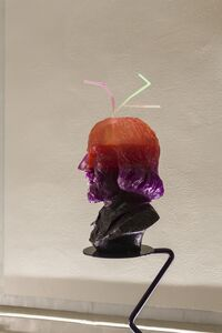 Nathaniel Mellors, 'Half-Drunk Purple-Orange Shakespeare (with Teeth & 3 Straws)', 2014