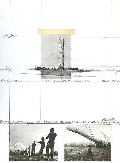"""Christo, '5600 m Package-Project for Documenta 4, Kassel (from the portfolio """"For Joseph Beuys"""")', 1986"""