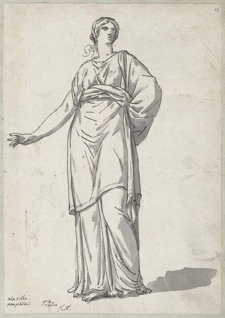 Jacques-Louis David, 'Woman from the Villa Pamphili', 1775/80