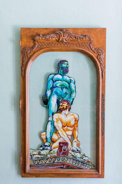 Whitney Pintello, 'Hercules and Cacus- Greek Surrealistic Mythological Painting', 2020