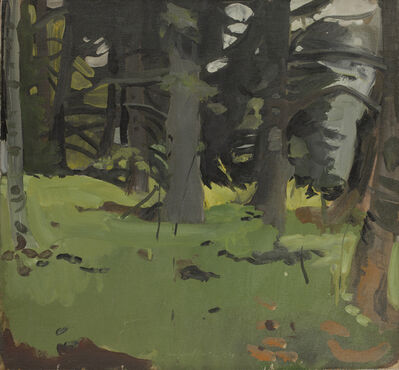 Fairfield Porter, 'Spruce and Birch', 1964