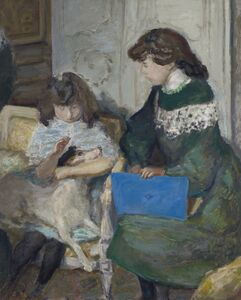 Pierre Bonnard, 'Young Girls with a Dog (The Daughters of Alexandre Natanson)', 1910