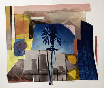 John Wood, 'Windmill and Cooling Tower', 2000