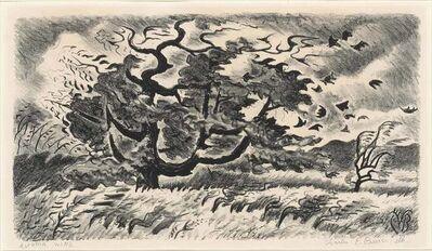 Charles Ephraim Burchfield, 'Autumn Wind (Prasse 191)', 1951