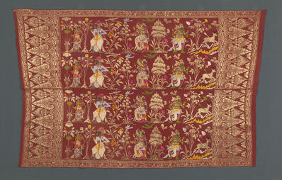 Unknown Artist, 'Saput (man's outer hip wrapper), decorated with a story from the Ramayana, depicting Sita, Rawana, and Laksmana, with Rama chasing the golden deer', Bali, Indonesia, 1929–39