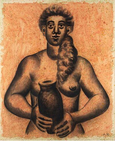 Hermann Albert, 'Akt und Grung I', 1990