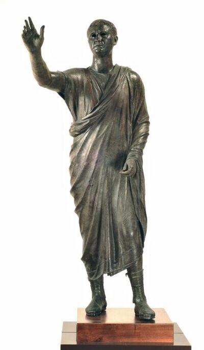 """'Portrait of Aule Meteli, """"The Arringatore""""', 125-100 B.C."""
