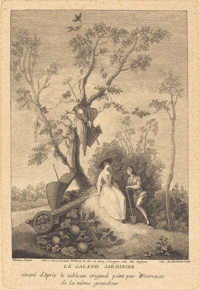Jacques de Favanne after Antoine Watteau, 'Le Galand Jardinier (The Gallant Gardener)'