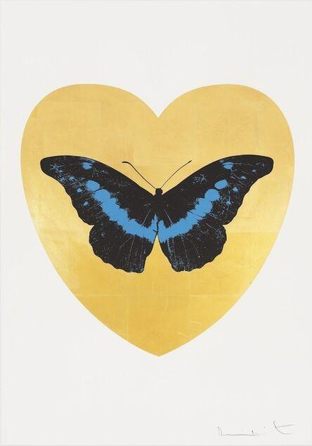 Damien Hirst, 'I Love You - gold leaf, black, turquoise ', 2015