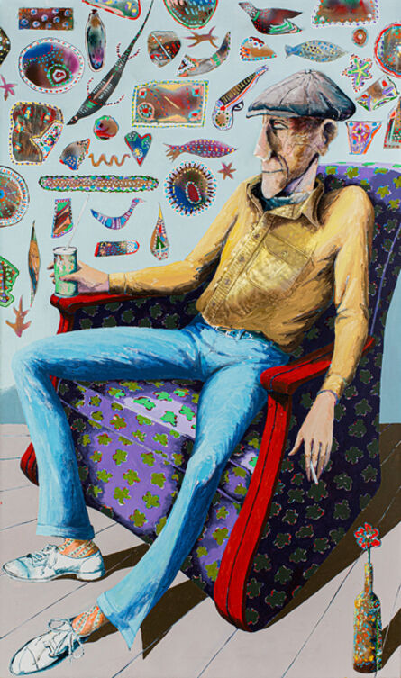 Benny Andrews, 'Portrait of George C. Andrews', 1986