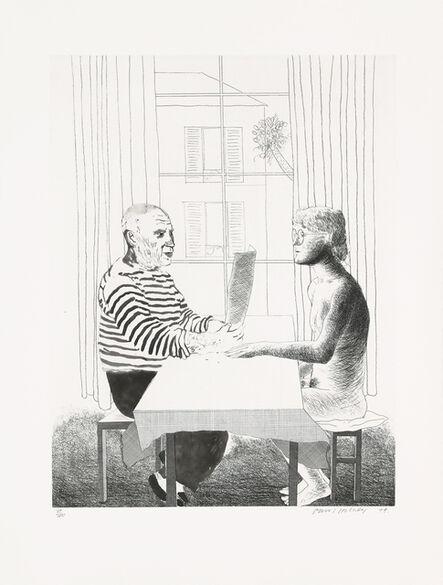 David Hockney, 'Artist and model', 1973-1974