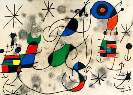 Joan Miró, 'L'Oiseau Solaire, L'Oiseau Lunaire,  Etincelles', 1967