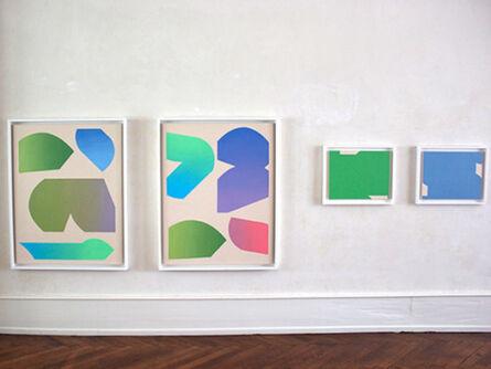 Felix Baudenbacher, 'Exhibition view, large gradient pairtings', 2014