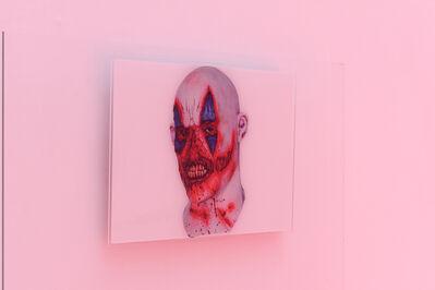 Christophe de Rohan Chabot, 'a (horror_mask_scratched_clown_face )', 2017