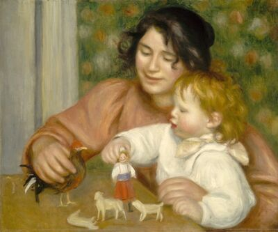 Pierre-Auguste Renoir, 'Child with Toys - Gabrielle and the Artist's Son, Jean', 1895-1896